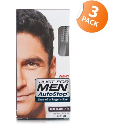 Just for Men Autostop Hair Colour 55 Real Black - Triple Pack