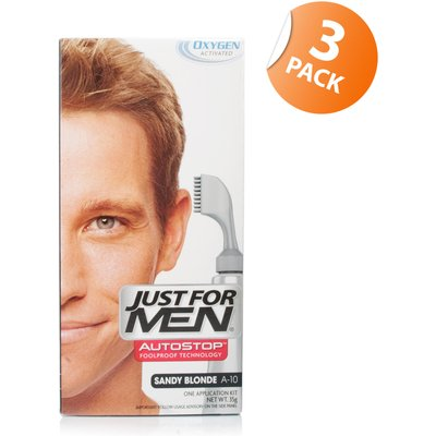 Just for Men Autostop Hair Colour Sandy Blonde 10 - Triple Pack