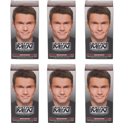 Just For Men Shampoo-In Hair Colour Medium Brown - 6 Pack