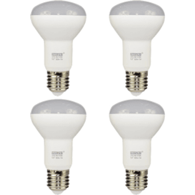 4 Pack E27 Screw LED 5.5W R63 Spotlight Bulb (60W Equivalent) 345 Lumen - Warm White Frosted