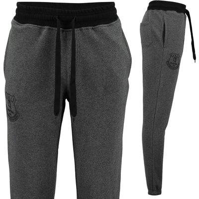 Everton Essentials Slim Fit Jogger - Grey Marl/Black, Black