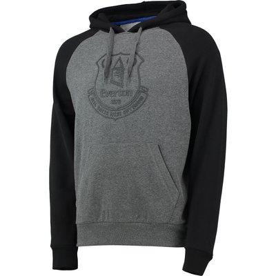 Everton Essentials OTH Raglan Hoodie - Grey Marl/Black, Black