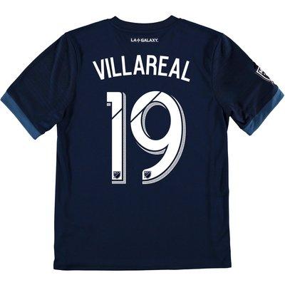 LA Galaxy Away Shirt 2017-18 - Kids with Villarreal 19 printing, Navy