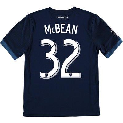 LA Galaxy Away Shirt 2017-18 - Kids with McBean 32 printing, Navy