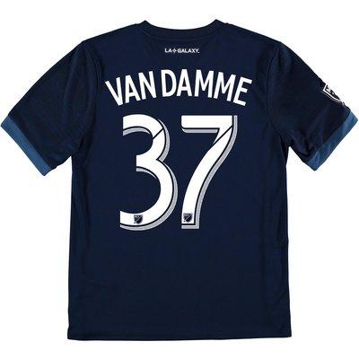 LA Galaxy Away Shirt 2017-18 - Kids with Van Damme 37 printing, Navy