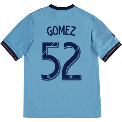 New York City FC Home Shirt 2017-18 - Kids with Gomez 52 printing, Blue