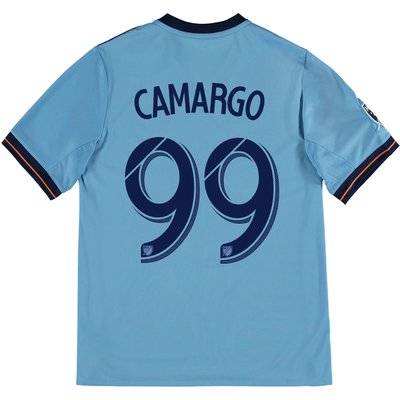 New York City FC Home Shirt 2017-18 - Kids with Camargo 99 printing, Blue