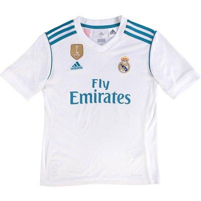 Real Madrid Home Shirt 2017-18 - Kids, White