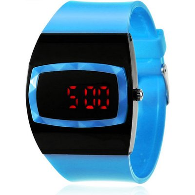 MAIKOU MK006 LED Digital Watch w/ Date Display - Light Blue