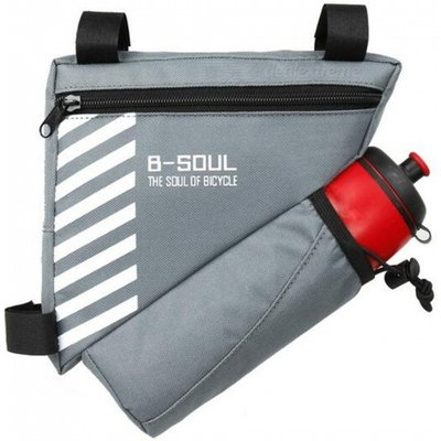 B-SOUL Bike Triangle Pack with Bottle Bag - Gray(Without Bottle)