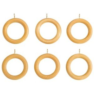 03558058 | Colours Modern Beech Effect Wood Curtain Ring  Dia 35mm  Pack of 6 Store