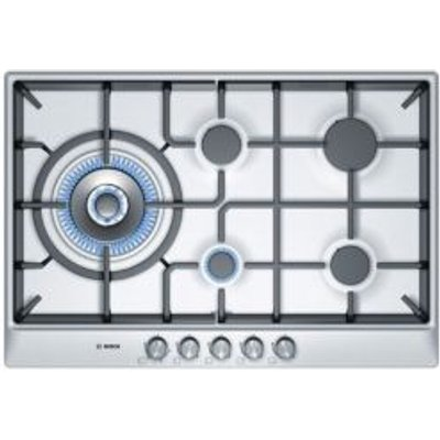 4242002488608 | Bosch PCS815B90E 5 Burner Cast Iron   Stainless Steel Gas Hob Store