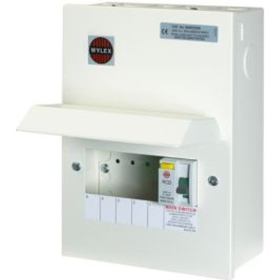 5013601096612 | Wylex 100A 5 Way Metal Consumer Unit Store