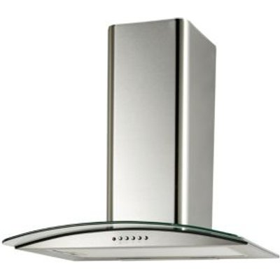 5052931055715 | Cooke   Lewis CLGCH60 C Stainless Steel Curved Glass Cooker Hood   W  600mm