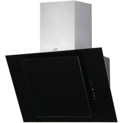 5052931055845: Cooke   Lewis CLTHAL60 C Black Angled Glass Cooker Hood   W  600mm