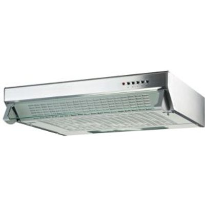 5052931055852 | Cooke   Lewis CLVH60SS C Silver Effect Integrated Cooker Hood   W  600mm
