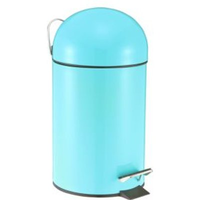 5052931257546 | Cooke   Lewis Arina Powder Coated Blue Iron Circular Pedal Bin  3L