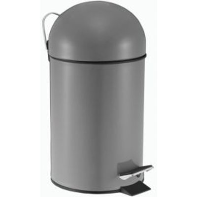 5052931257560 | Cooke   Lewis Arina Powder Coated Grey Iron Circular Pedal Bin  3L