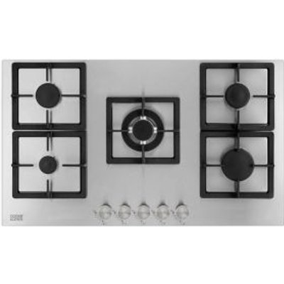 5052931258635 | Cooke   Lewis CLGSS 90 5 Burner Cast Iron   Stainless Steel Gas Hob Store