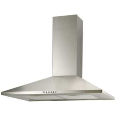 Cooke   Lewis CLCH70SSR1 Stainless Steel Silver Effect Chimney Cooker Hood   W  700mm 5052931268337