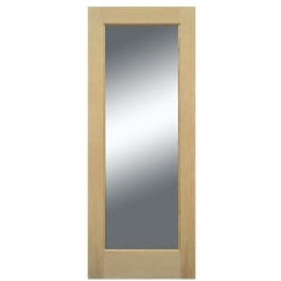 5397007096200 | 1 Panel Shaker White Oak Veneer Glazed Front Door   H 1981mm  W 838mm