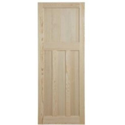 5397007100129 | Traditional Panelled Clear Pine Internal Unglazed Door   H 1981mm  W 762mm