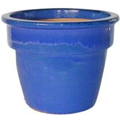 5397007156133 | Hazelbrook Round Glazed Blue Pot  H 24cm  Dia 34cm Store