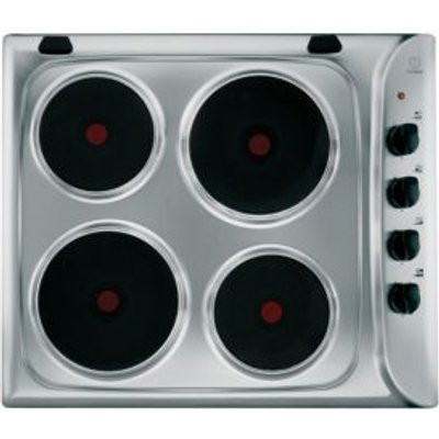 8007842878417 | Indesit PIM 604  IX  4 Burner Stainless Steel Electric Solid Plate Hob Store