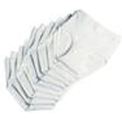 Saver Pack of 10 Pants for Men, white, various sizes