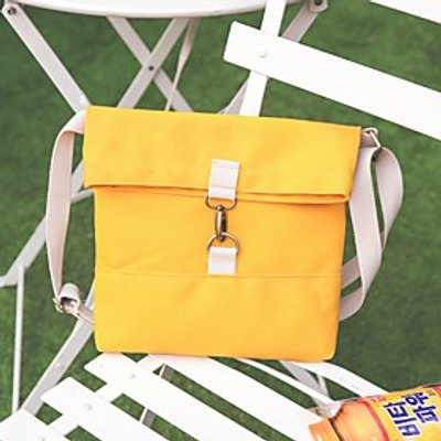 Women Shoulder Bag Canvas All Seasons Casual Rectangle Push Lock Yellow Gray Red Black White