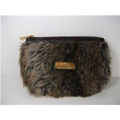 River island Brown Faux Fur Clutch Bag