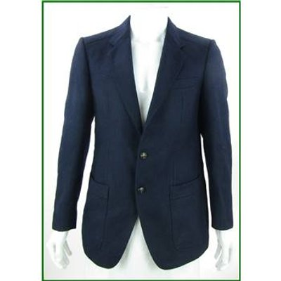 VINTAGE Billard - Size: 40 - Navy Blue - Pure New Wool Single breasted suit jacket