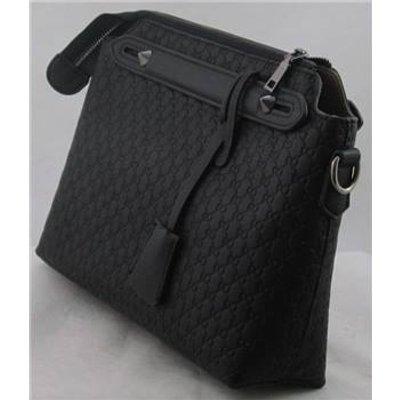 NWOT Unbranded black embossed faux leather handbag