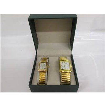 Couples pair of Watches Singapore Movement - Size: Medium - Metallics