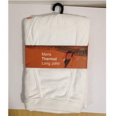 Brand new - Primark - Mens Thermal Long Johns x 3 packets - size XL Primark - Size: XL - White