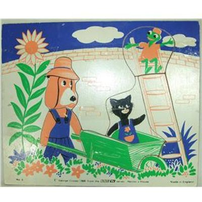 Vintage Hector's House Wooden Jigsaw Puzzle 1968
