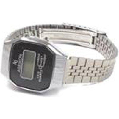 Grey tone octagon face digital watch