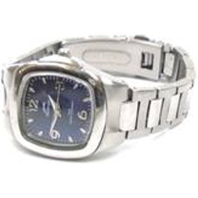Stainless steel square face watch