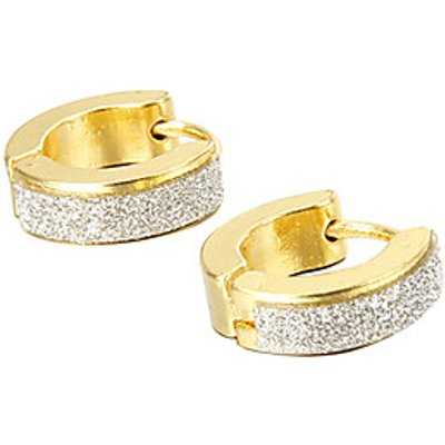For Boyfriend Fashion Glitter Gold Titanium Steel Stud Earrings (1 Pair) Jewelry Christmas Gifts