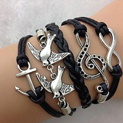 Men's Couple's Leather Bracelet Wrap Bracelet Multi Layer European Vintage Personalized Inspirationa