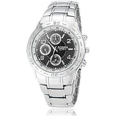 Men's Round Dial Steel Band Quartz Wrist Watch (Assorted Colors) Cool Watch Unique Watch