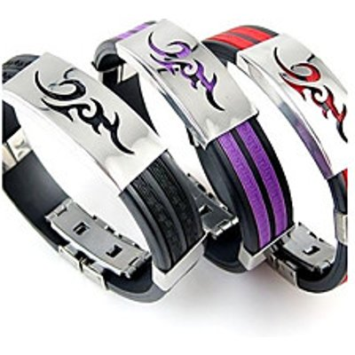 Men's Stainless Steel Silicone Bracelets Christmas Gifts