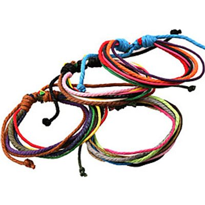Classic Archaistic 20cm Men's Assorted Color Leather Strand Bracelet()(1 Pc) Christmas Gifts