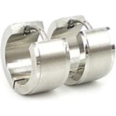 Fashion  Men's Silver 316L Stainless Steel Metal  Hoop Earring  Christmas Gifts