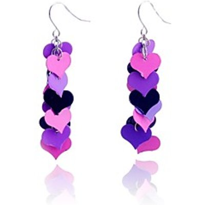 LuremeColorful Linking Hearts Earring