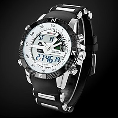 Men's Watch Sports Multi-Function Dual Time Zones Water Resistant Cool Watch Unique Watch Fashion Wa