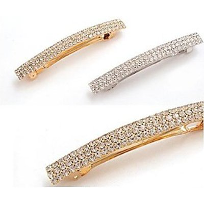 Full Diamond Crystal Diamond Hairpin