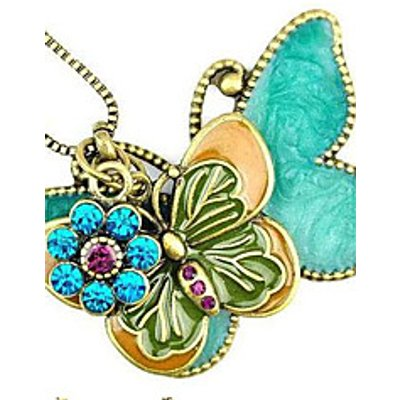 The European and American Style Restoring Ancient Ways Double Kick Butterfly Long Pendant Necklace/S