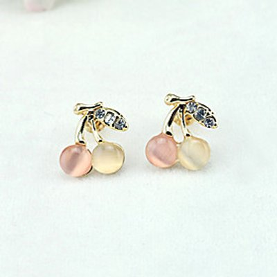Stud Earrings Drop Earrings Cubic Zirconia Gold Plated Alloy Fashion Gold Jewelry 1set