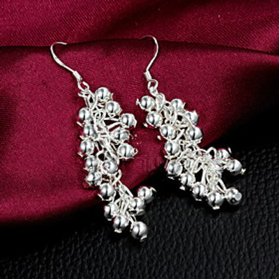 2015 Fashion Noble Sterling Silver  Earring Drop EarringsFor WomanLady